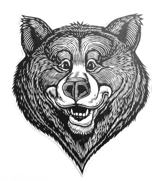 Image of Bear head Wood Cut-out