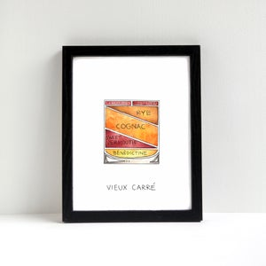Vieux Carre Cocktail Art Print by Alyson Thomas of Drywell Art. Available at shop.drywellart.com