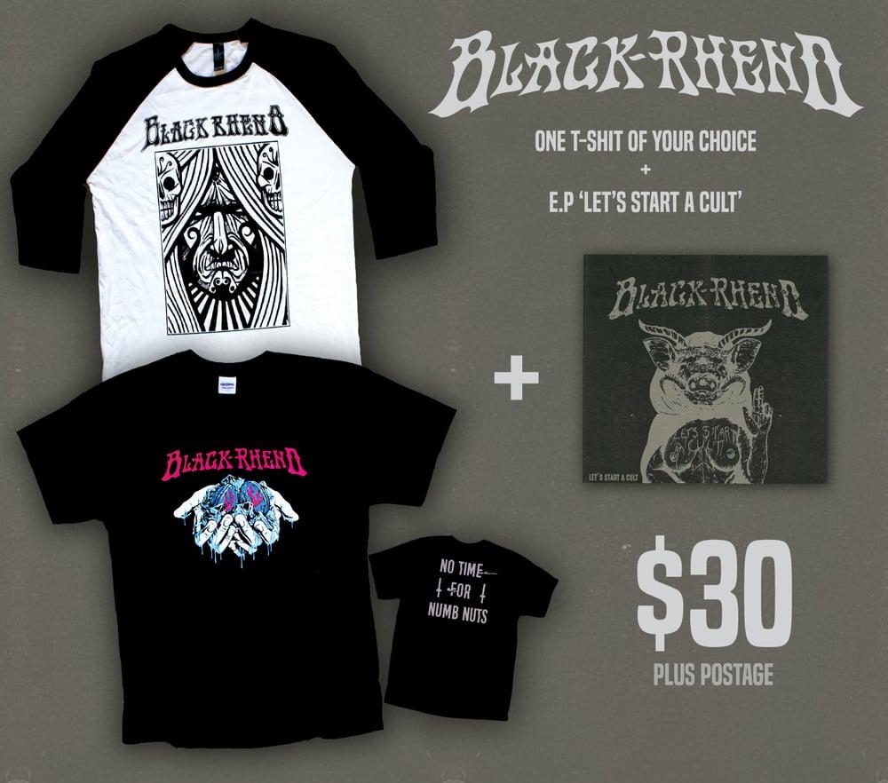 Image of Black Rheno 'TEE + CD PACK'