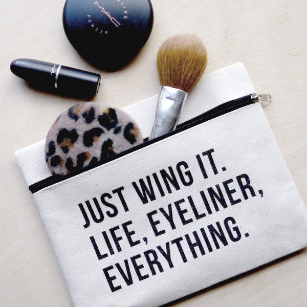 Cute Printed Makeup Pouch Hatches