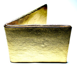 Image of Gold leather wallet