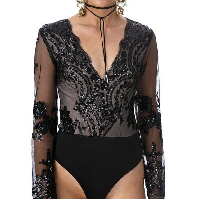 Image of Edwina Bodysuit Black