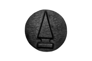 Image of Embossed stud iron on patch