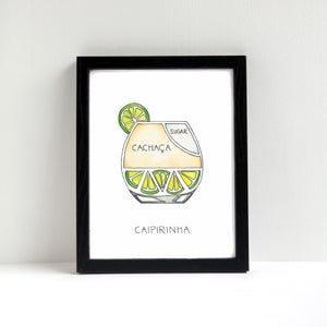 Image of Caipirinha Cocktail Art Print