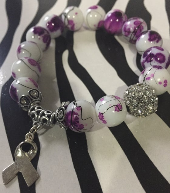 Image of Purple Awareness Bracelet 1