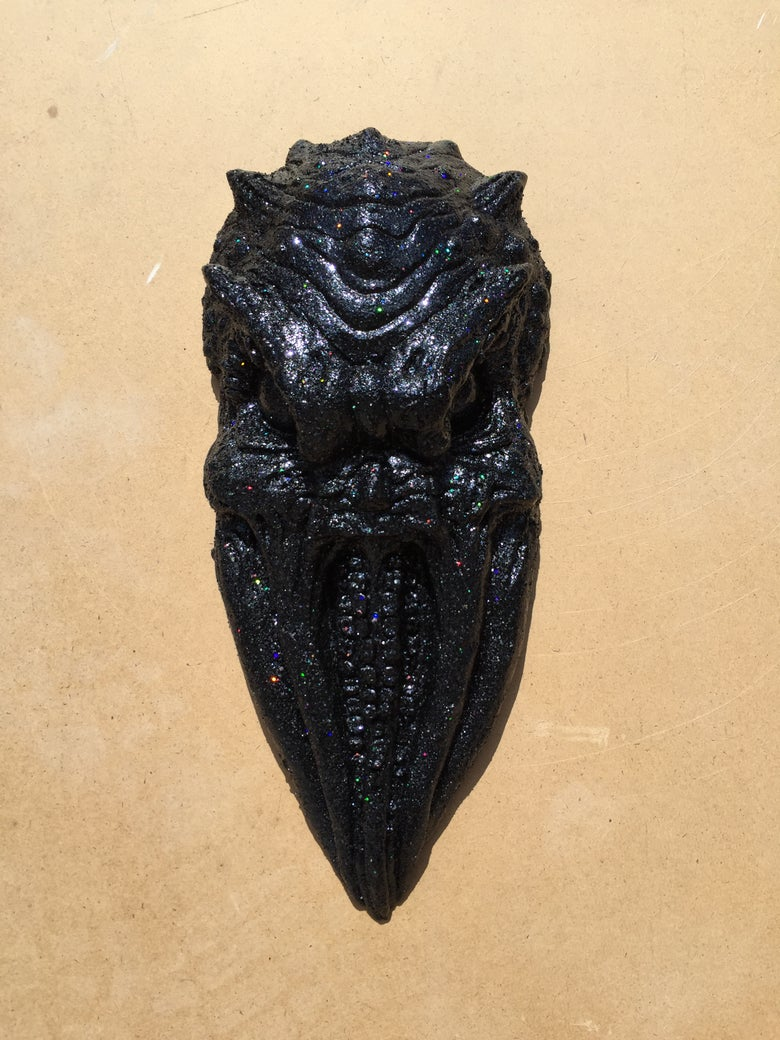 "Image of Colin Christian Sculpture ""Old One"",Metal Flake"