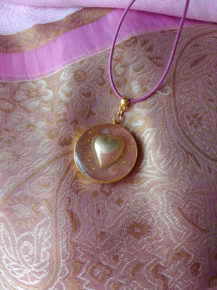 Image of DustyPink Round Pendant