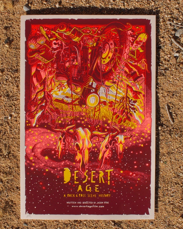 "Image of Desert Age ""Red Sun"" Screen-Printed Poster"