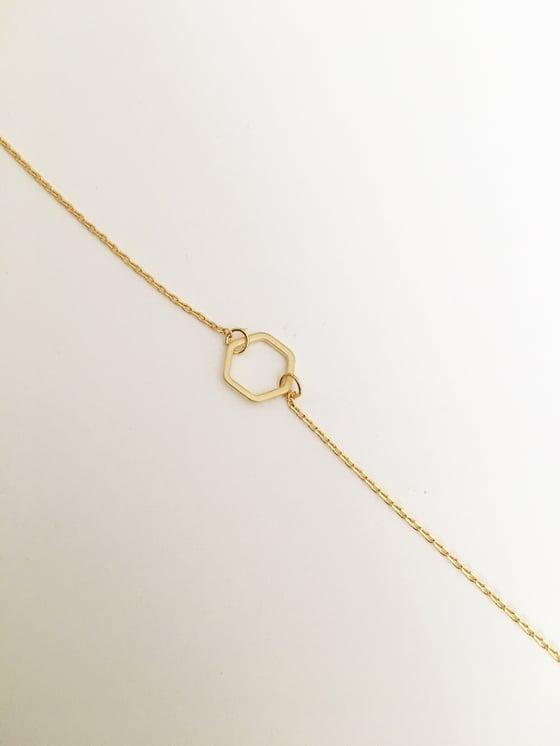 Image of Open hexagon bracelet