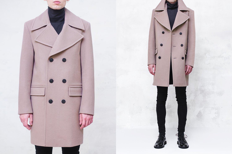 Image of BJORNE | Beige Wool-Blend Overcoat