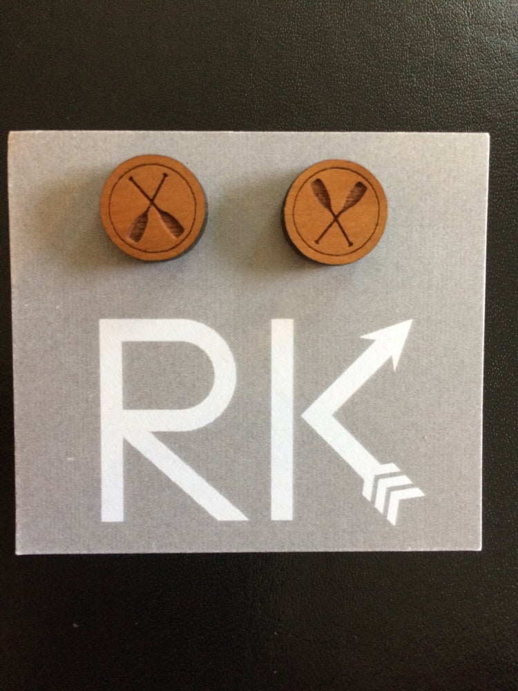 Image of RK Designs ~ Laser etched studs