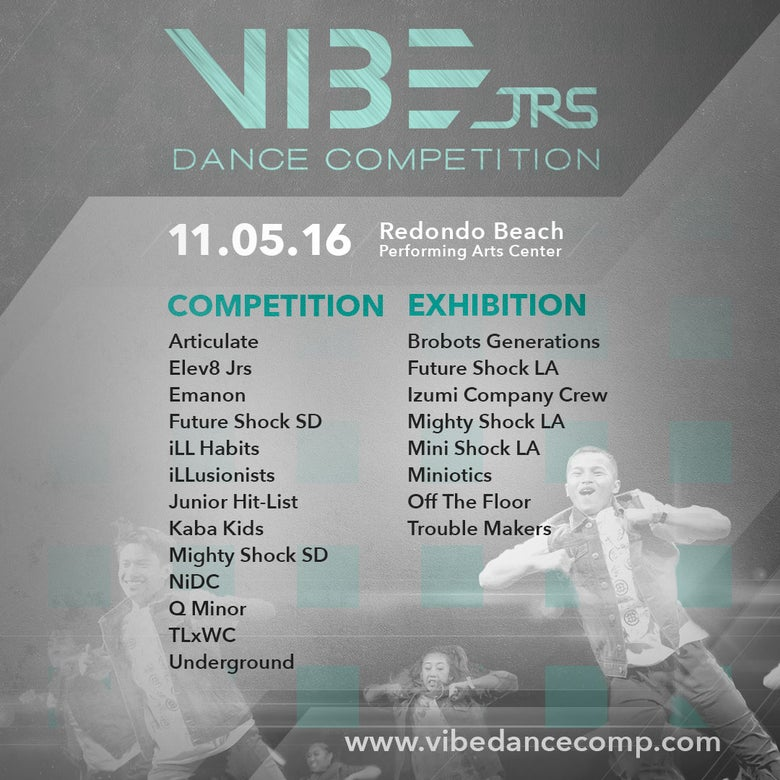 Image of 2016 VIBE JRs Presale Ticket - 11.05.16
