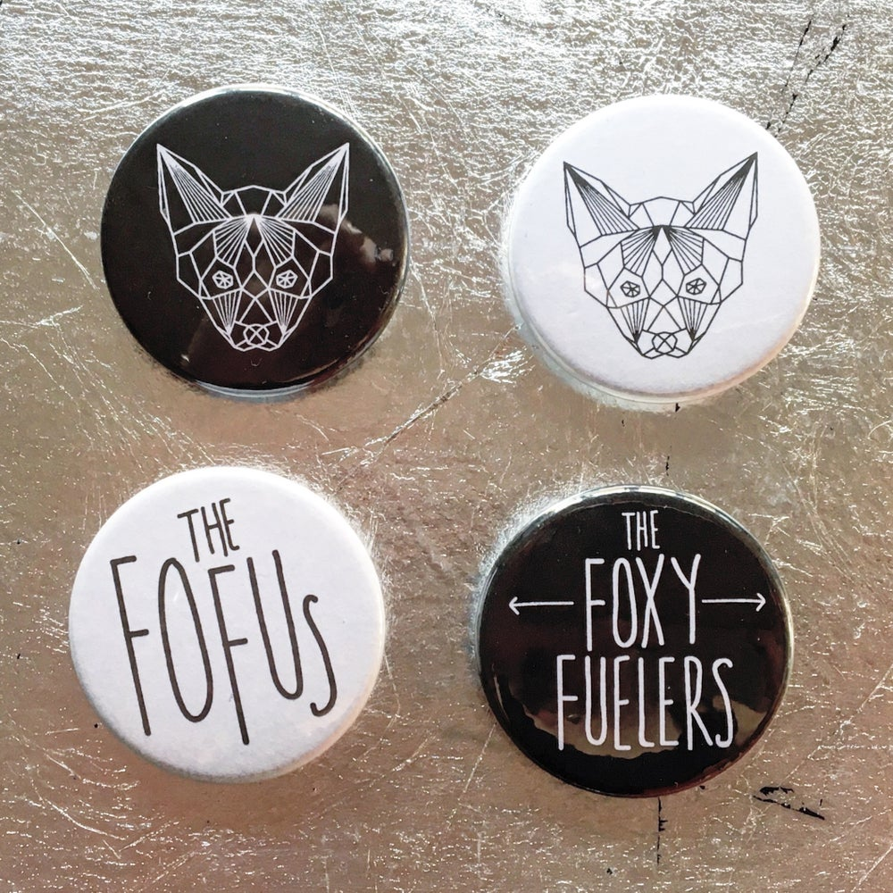 Image of Foxy Badge pack - Black & White