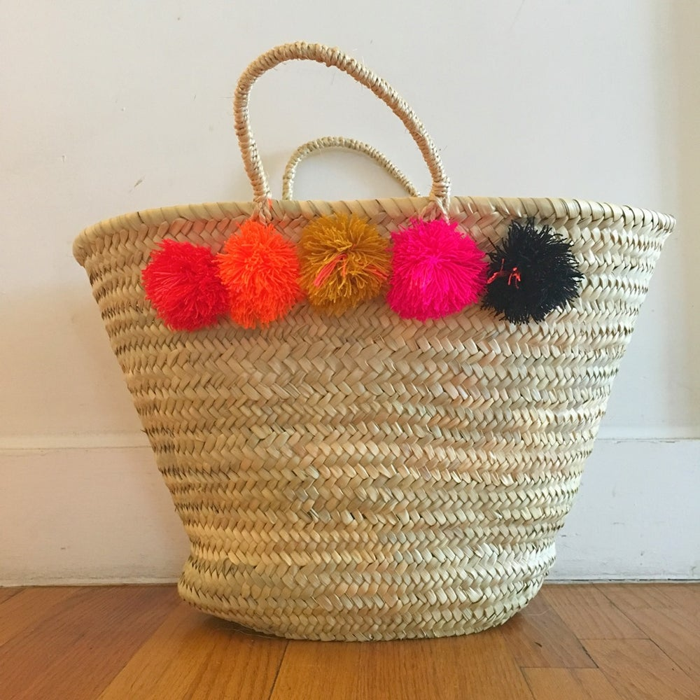 Image of topanga basket - gold and pink