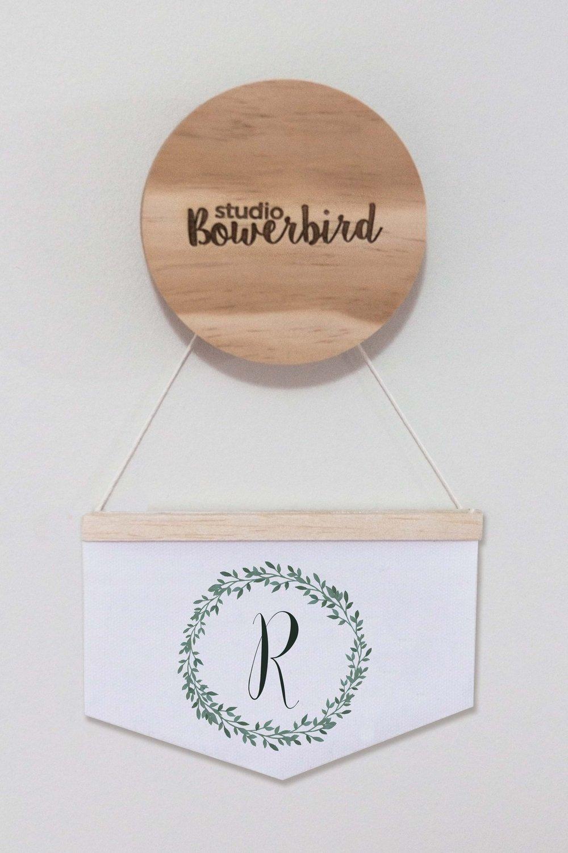 Image of Foliage letter | Mini Banner