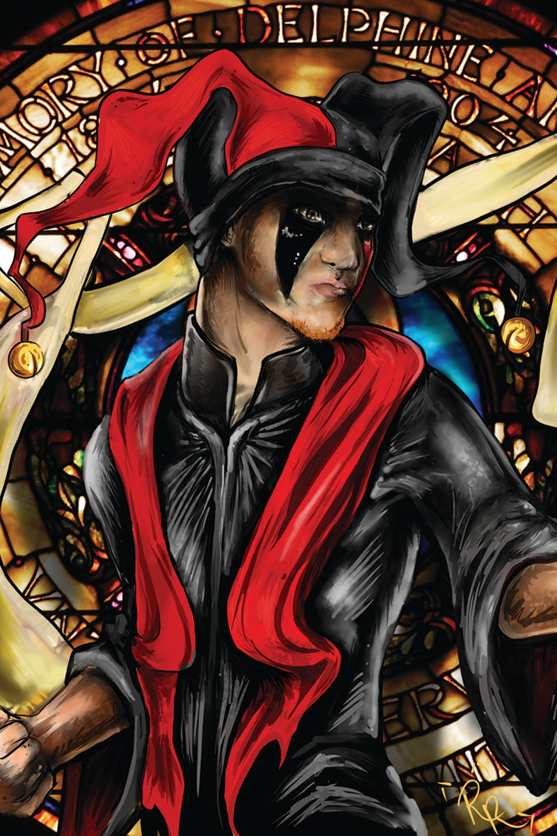 Image of Stained Glass Jokerr Poster