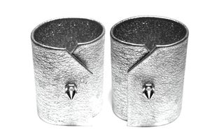 Image of Silver leather cuffs