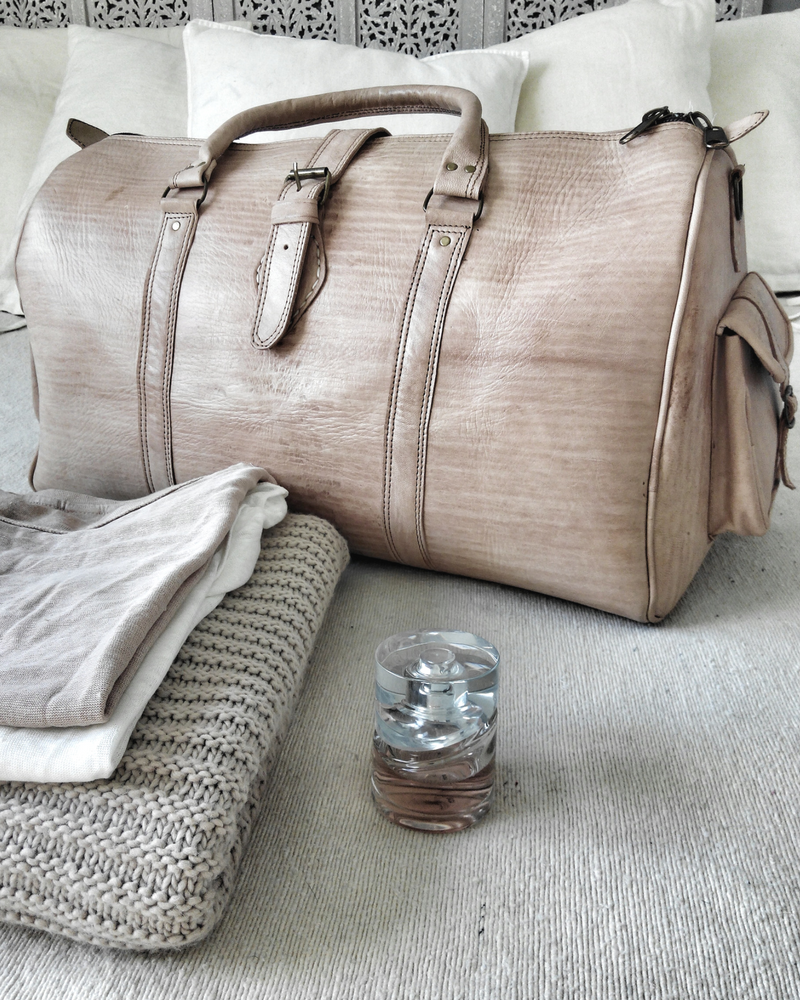 Image of travel leather bag sahar