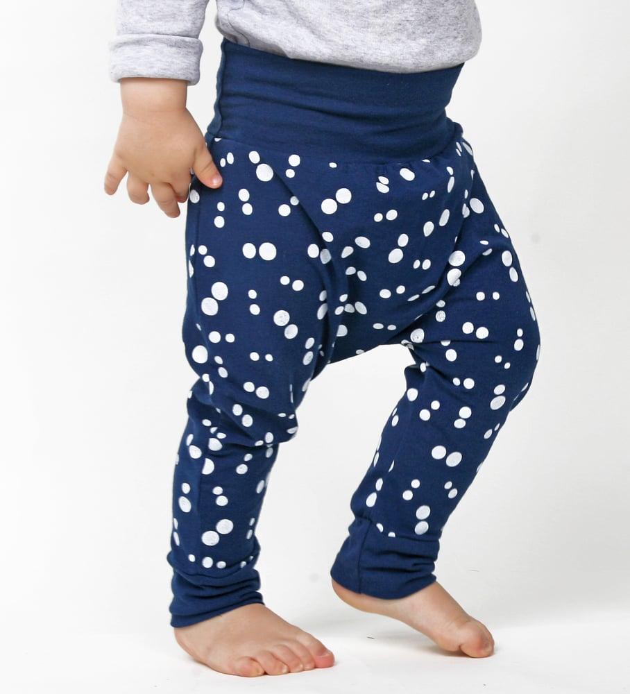 Image of Baby-Hose Punkte - navy-weiß