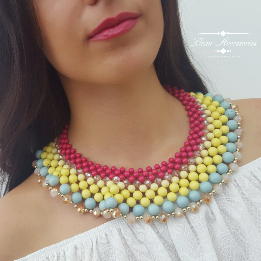 Image of Colourful Collar Necklace