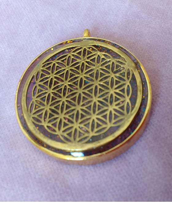 Image of Flower Of Life Orgonite Pendant