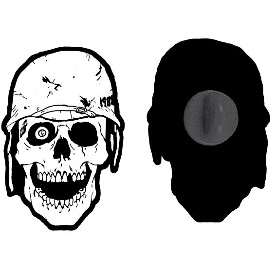 Image of Decayed Skull Lapel Pin