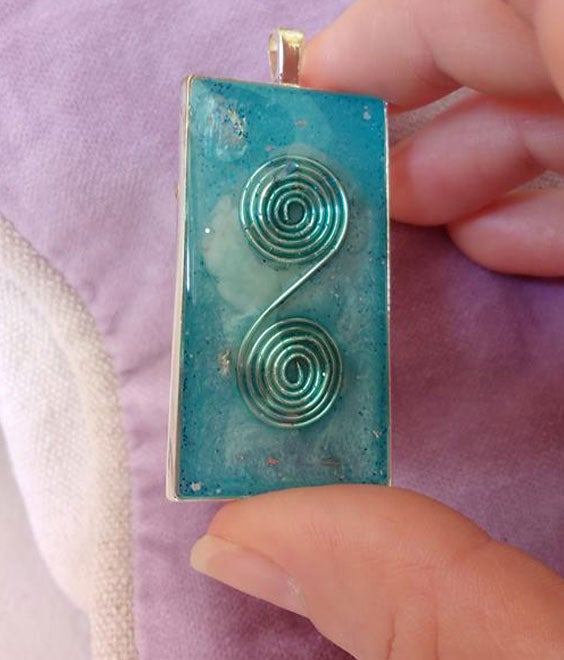 Image of Rectangular Blue Pendant