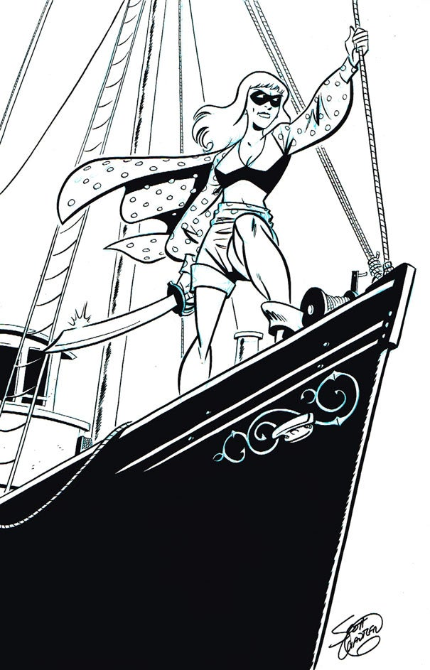 Image of Polka Dot Pirate pin-up