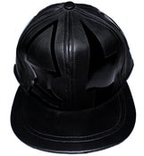 Image of Leather patent cap