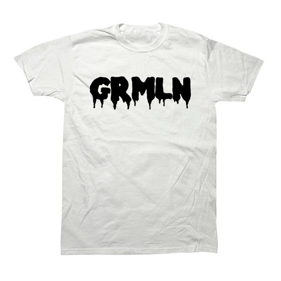 "Image of GRMLN White ""Classic Drip""  (Black)"
