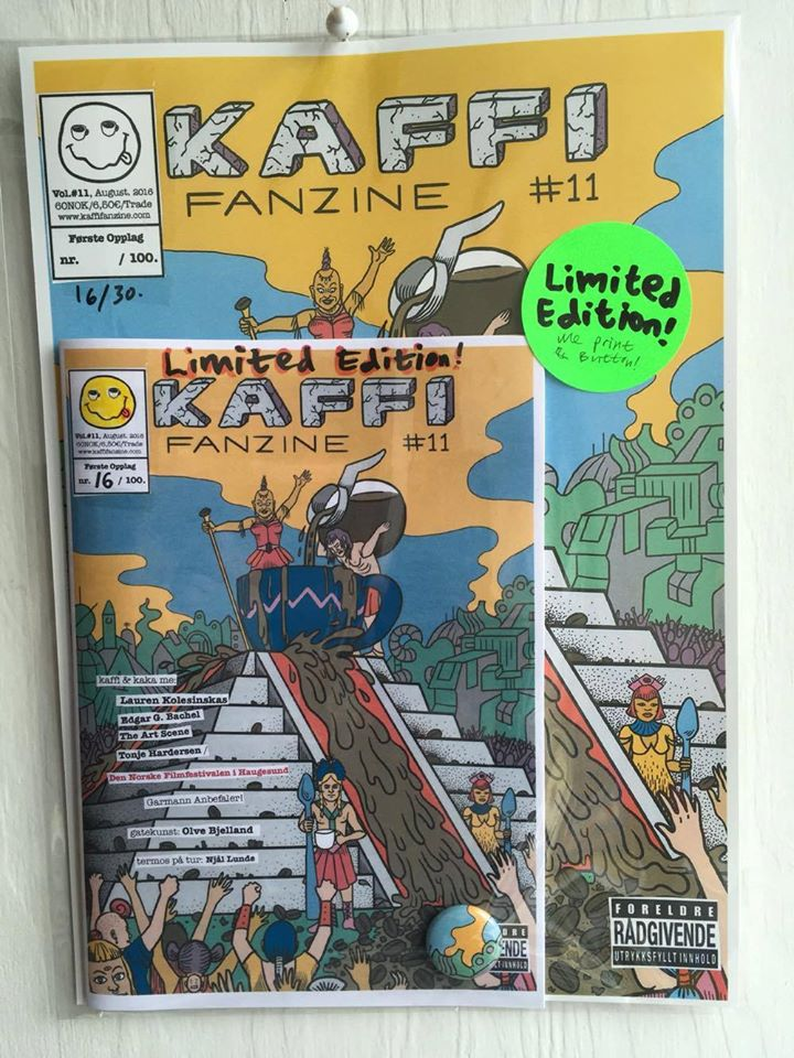 Image of kaffi fanzine Vol.#11 (2016) Limited Edition w/ A4-print & Button!