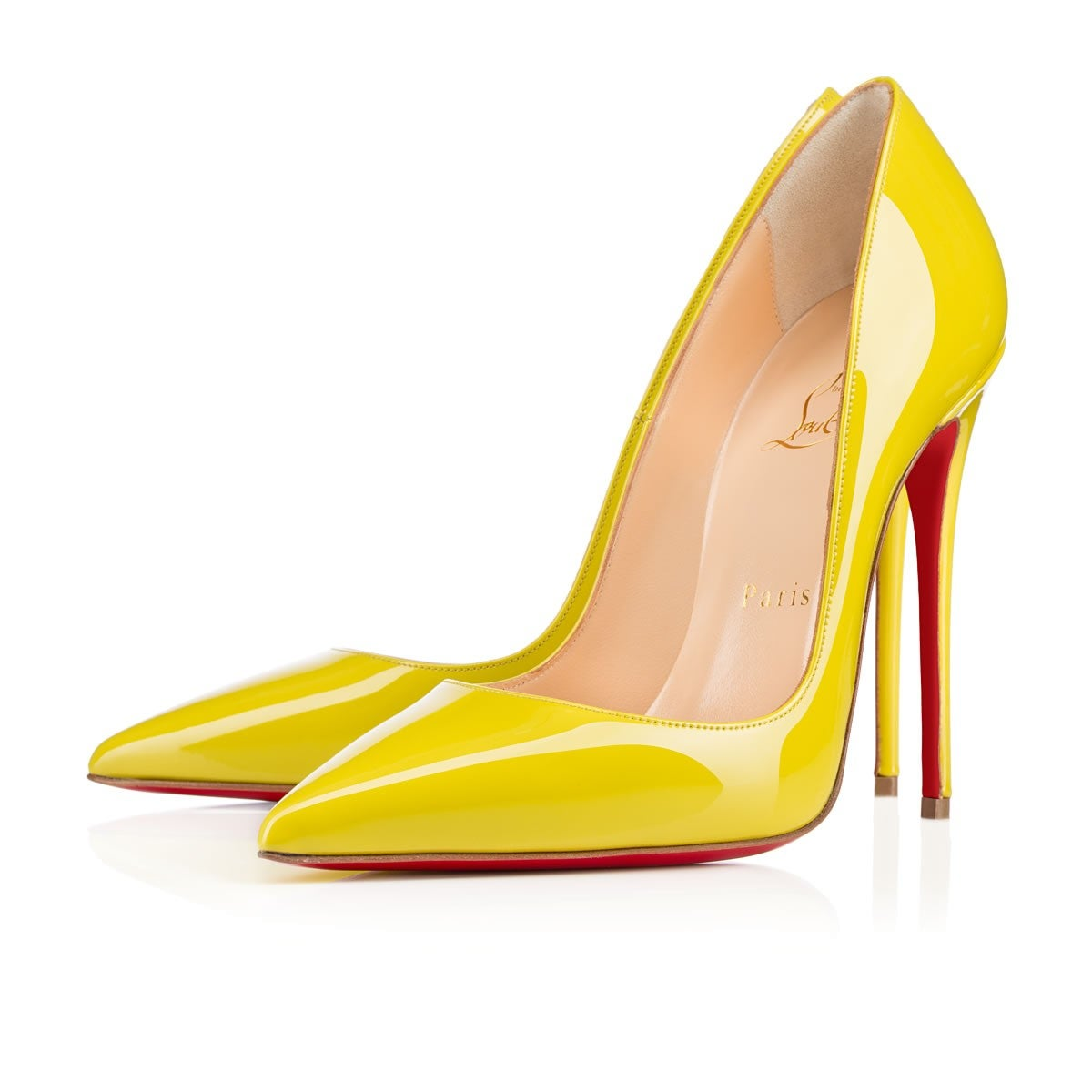 52f611a51a1b Image of red bottom shoes so kate patent leather pumps yellow jpg 1000x1000 Red  bottom shoes