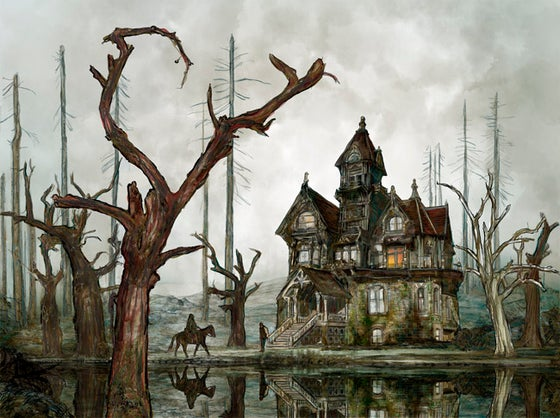 Image of The Fall of the House of Usher | Buy Illustration Art Prints for Sale