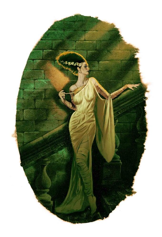 Image of Bride of Frankenstein Green Variant EDITION No. 0/10