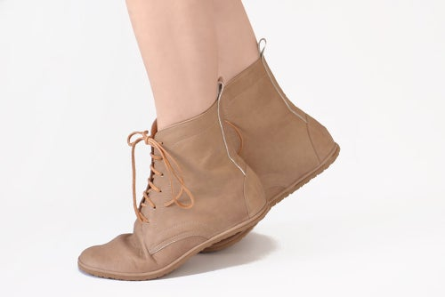 Image of Lace up boots - Foris in Ecru