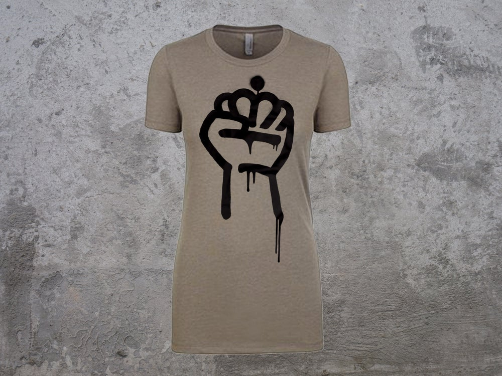Image of QC Fist (Women's Style - Warm Gray)