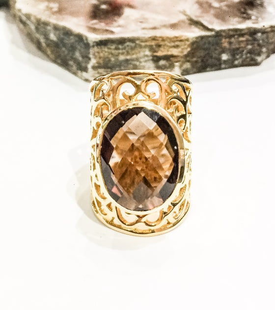 Image of Statement Smoky Quartz Ring