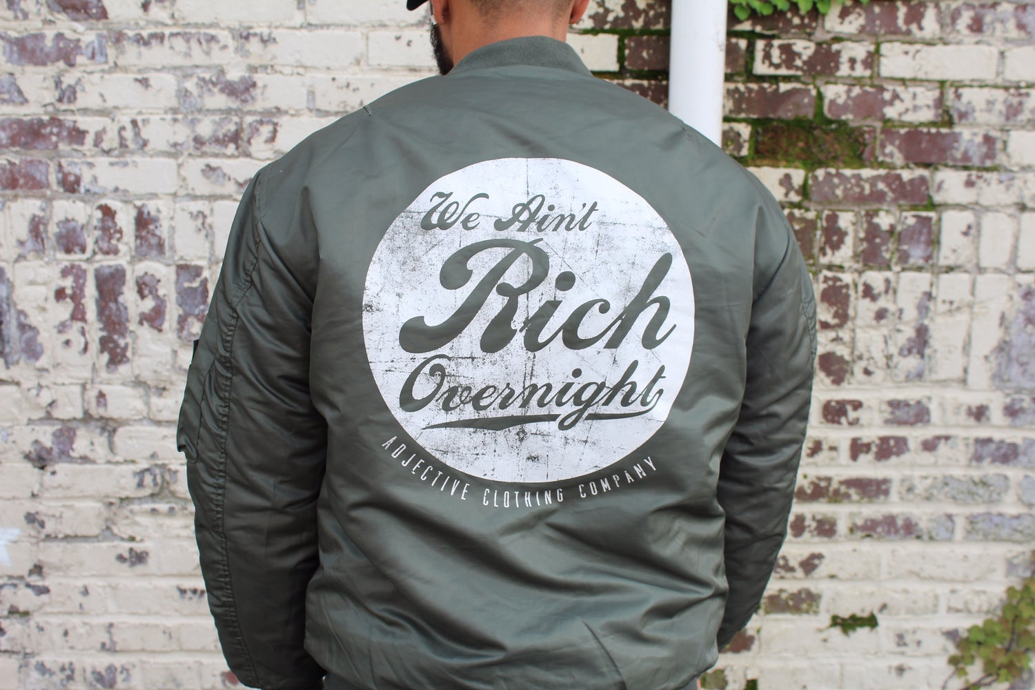 Image of Rich Over Night Reversible Bomber Jacket