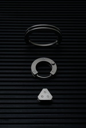 Image of DRILLING LAB - Anonymous Key Ring (Silver)