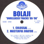 "Image of BOLAJI ""UNRELEASED TRACKS '88-'90"""