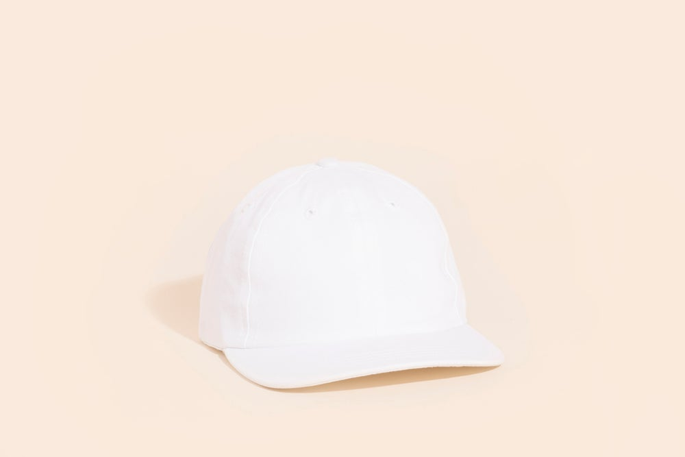 Image of Ball Cap - Blank White Canvas