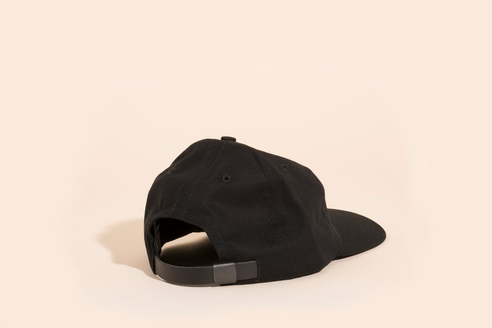 Image of Ball Cap - Black Canvas White Embroidery - Cry Baby