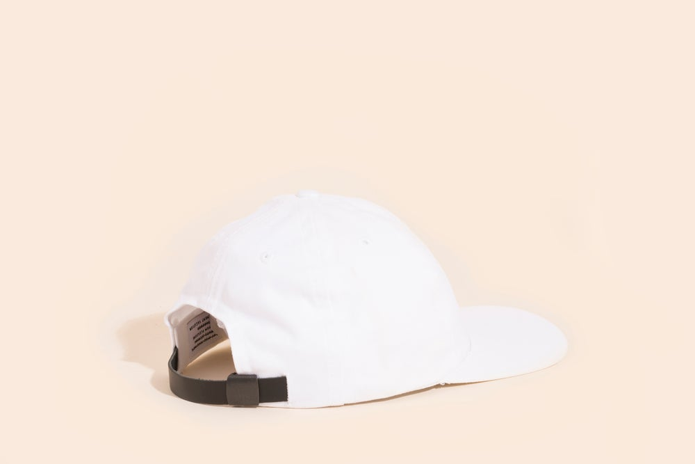 Image of Ball Cap - White Canvas Black Embroidery - Cry Baby