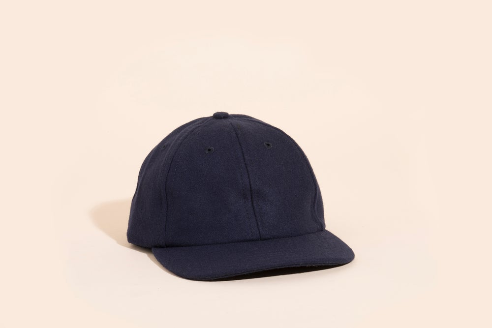 Image of Ball Cap - Blank Navy Wool
