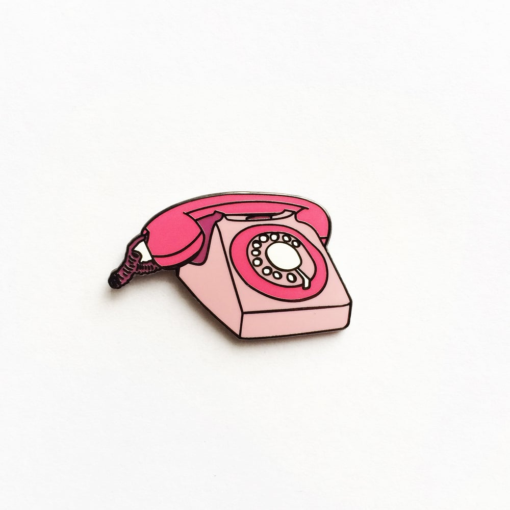 Image of Phone Enamel Pin