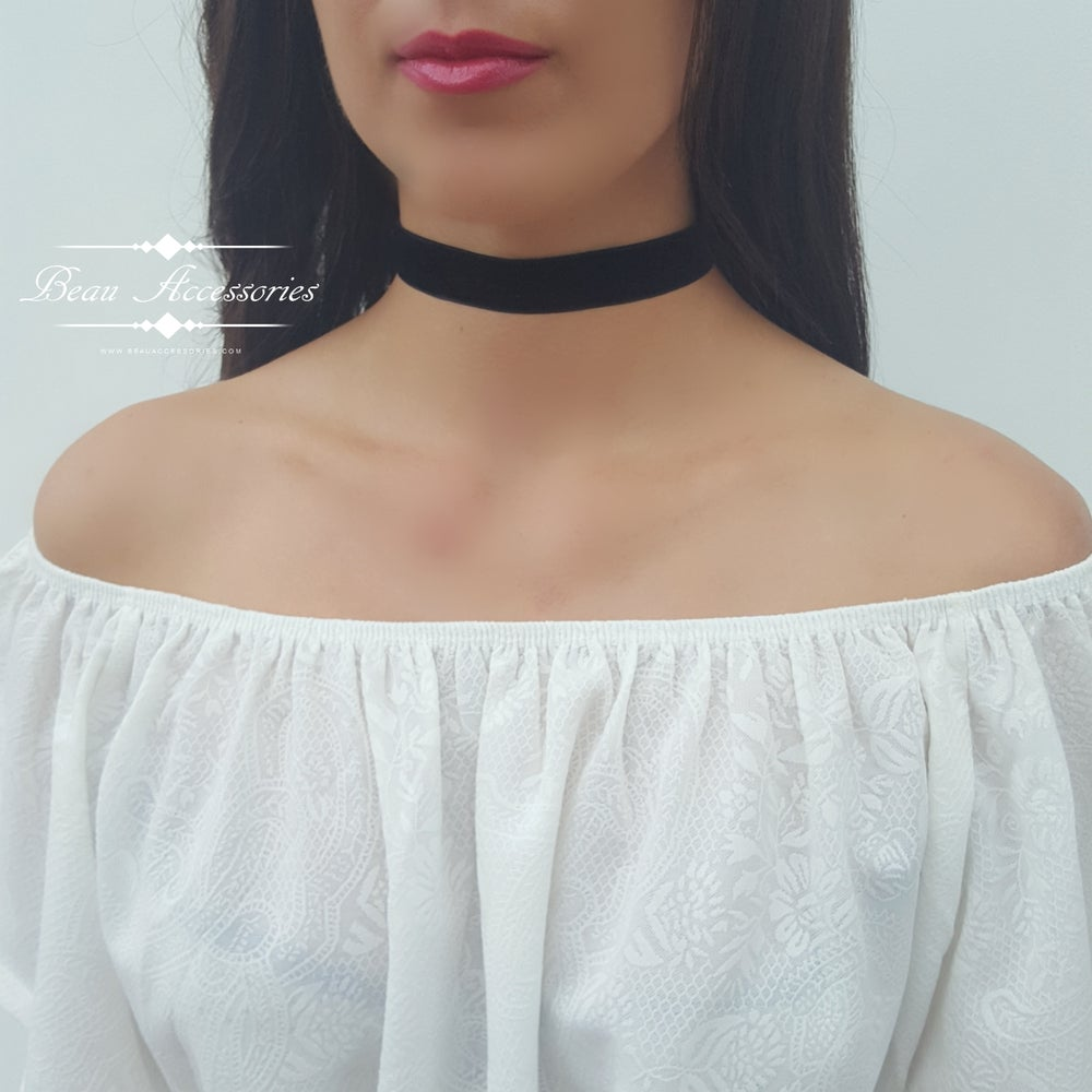 Image of Black Velvet Choker