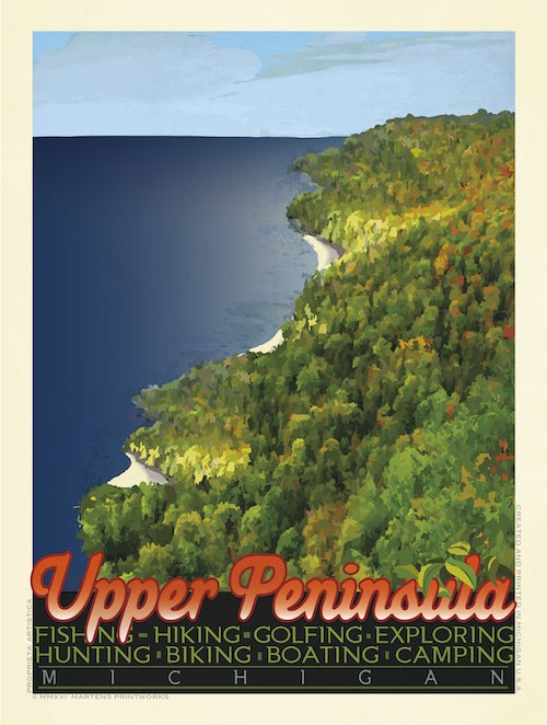 Image of Upper Peninsula Print No. [016]