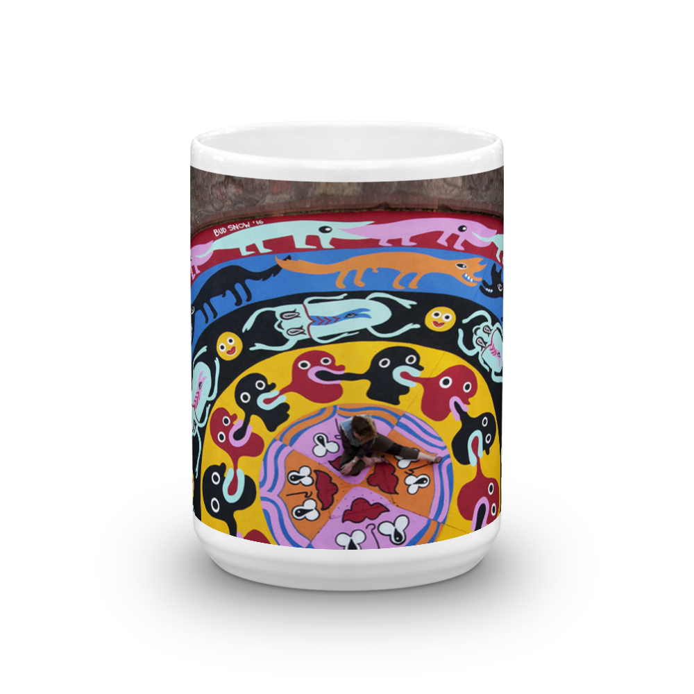 "Image of Bud Snow ""Mandala"" Mug (15 oz.)"