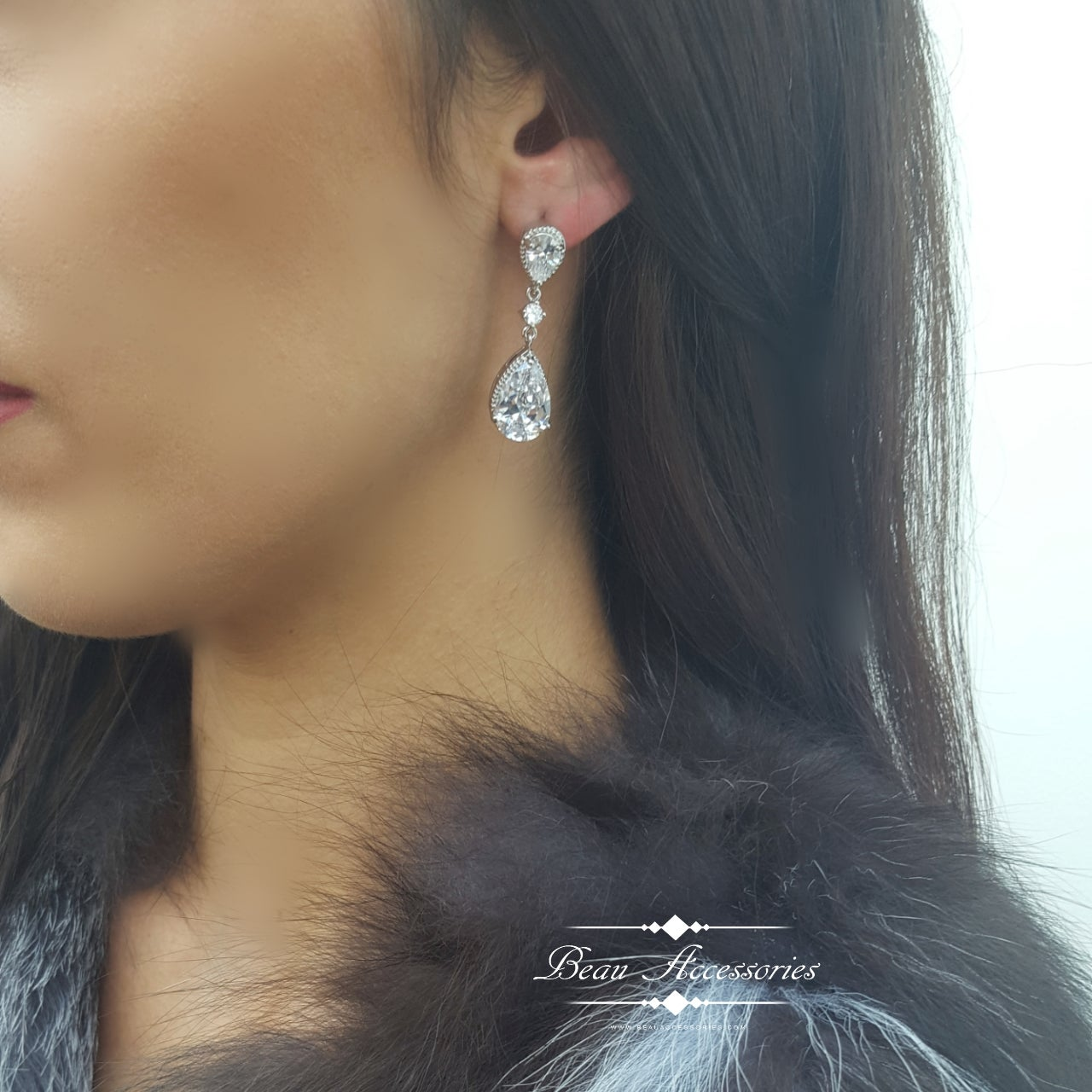 Image of Silver Zirconia Earrings