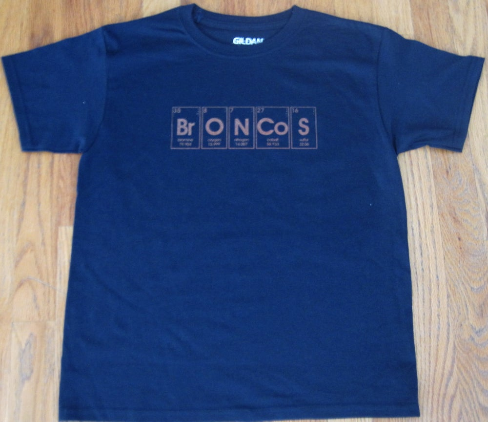 Image of kids periodic broncos. - graphic tee